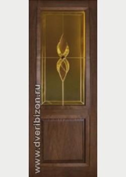 Межкомнатная дверь Классика ДО дуб мореный, обклад гребенка